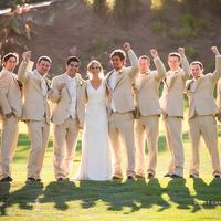 The perfect setting for golf course wedding photos at the Corral de Tierra Country Club.