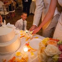 Wedding parties enjoy the cake at the Corral de Tierra Country Club.